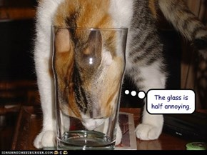 The glass is