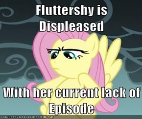 Fluttershy is Displeased  With her current lack of Episode