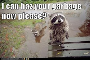 I can haz your garbage now please?