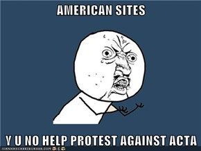 AMERICAN SITES  Y U NO HELP PROTEST AGAINST ACTA