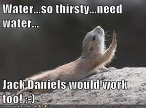 Water...so thirsty...need water...  Jack Daniels would work too! :-)