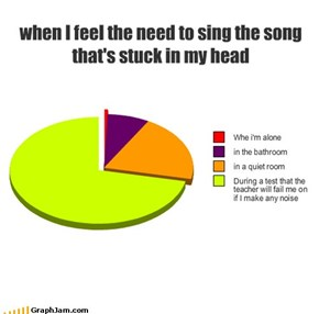 when I feel the need to sing the song that's stuck in my head