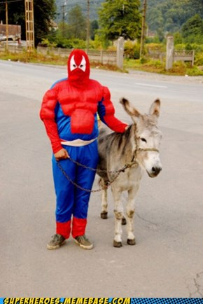 Get on the donkey I'll explain later