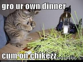 gro ur own dinner  cum on chikezz...........