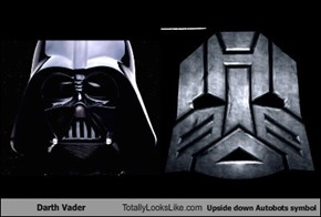 Darth Vader Totally Looks Like Upside Down Autobots Symbol