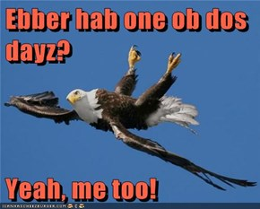 Ebber hab one ob dos dayz?  Yeah, me too!