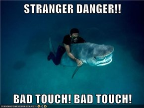 STRANGER DANGER!!  BAD TOUCH! BAD TOUCH!