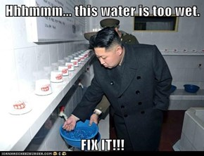 Hhhmmm... this water is too wet.  FIX IT!!!