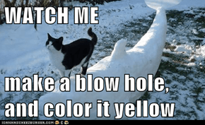 WATCH ME  make a blow hole, and color it yellow
