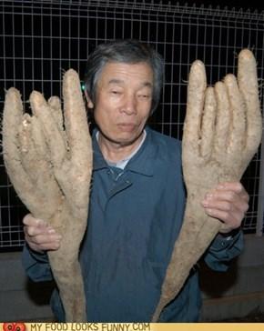 Frankenstein's yam-y hands