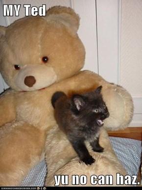 MY Ted  yu no can haz.