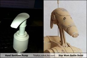 Hand Sanitizer Pump Totally Looks Like Star Wars Battle Droid