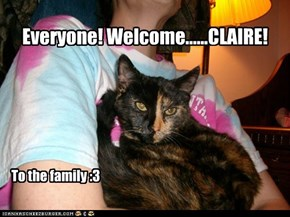 Welcome Claire