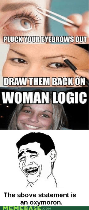 Women don't have logic, they would just bleed all over it.