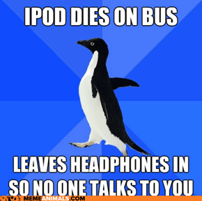 Socially Awkward Penguin iPod Dies on Bus