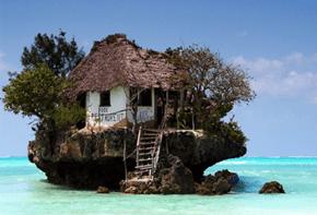 "The Restaurant ""The Rock"" in Zanzibar, Tanzania"