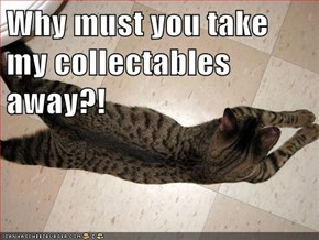 Why must you take my collectables away?!