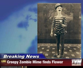 Breaking News - Creepy Zombie Mime finds Flower
