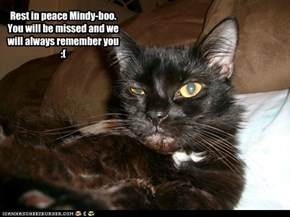 Rest in Peace, Mindy