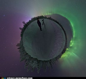 Little Planet Aurora Borealis