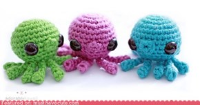 Tiny Amigurumi Octopuses