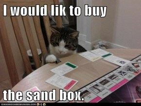 I would lik to buy  the sand box.