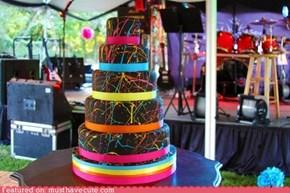 Epicute:  Neon Paint Splatter Cake