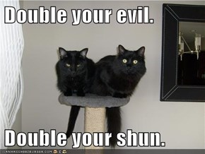 Double your evil.  Double your shun.