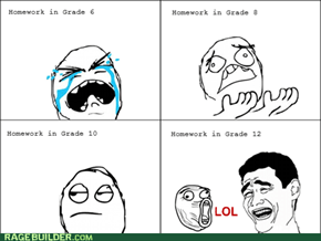 Rage Comics: What Homework?