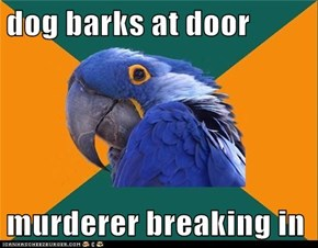 Paranoid Parrot: So Many Murderers in this Neighborhood