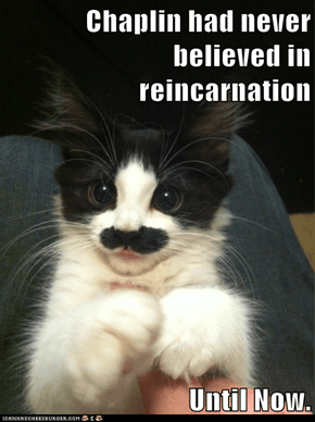 Chaplin had never believed in reincarnation  Until Now.
