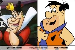 Queen of Hearts Totally Looks Like Fred Flintstone