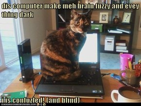 dis computer make meh brain fuzzy and evey thing dark  i is confuzled! (and blind)