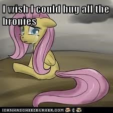I wish I could hug all the bronies