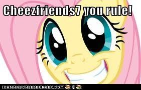 Cheezfriends7 you rule!