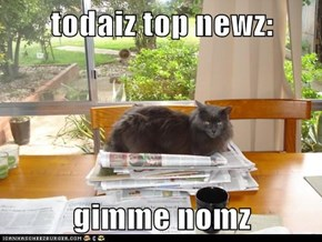 todaiz top newz:  gimme nomz
