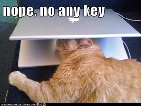 nope. no any key