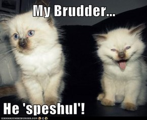 My Brudder...  He 'speshul'!