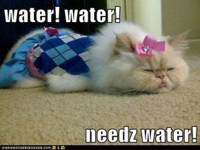 water! water!  needz water!