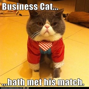 Business Cat...  ...hath met his match.