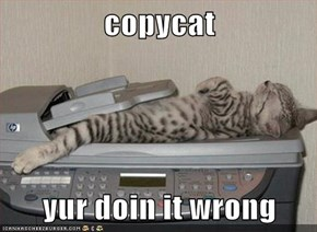 copycat  yur doin it wrong
