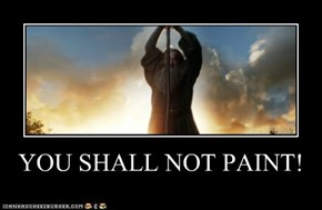 YOU SHALL NOT PAINT!
