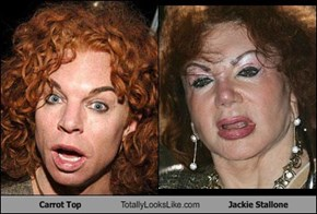 Carrot Top Totally Looks Like Jackie Stallone