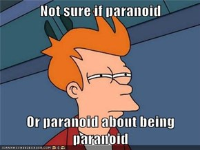 Not sure if paranoid  Or paranoid about being paranoid