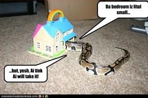 Da bedroom iz litul small...