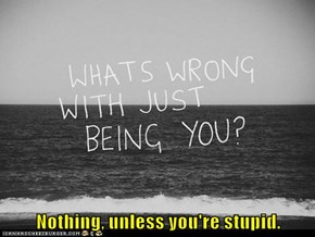 Nothing, unless you're stupid.