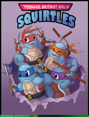 Squirtles In a Half-Shell