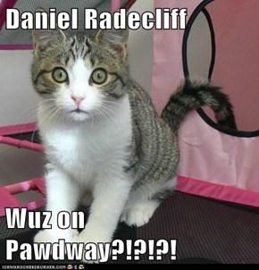 Daniel Radecliff  Wuz on Pawdway?!?!?!