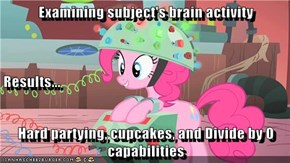 Examining subject's brain activity Results... Hard partying, cupcakes, and Divide by 0 capabilities