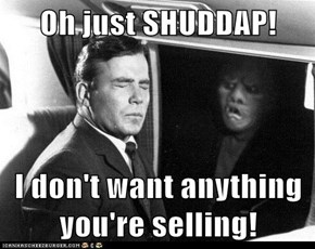 Oh just SHUDDAP!  I don't want anything you're selling!